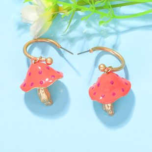 fashion colored dripping mushroom-shaped earrings cute candy two-color exaggerated earrings wholesale nihaojewelry NHJQ227706's discount tags