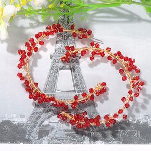 red beads winding earrings round symmetrical earrings trendy earrings wholesale nihaojewelry NHJQ227714's discount tags