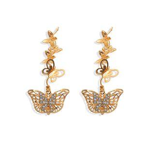 Korean elegant retro hollow butterfly earrings simple earrings wholesale nihaojewelry NHJQ227715's discount tags