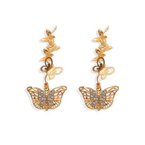 Boucles d'oreilles papillon coréen élégant rétro creux boucles d'oreilles simples en gros nihaojewelry NHJQ227715's discount tags