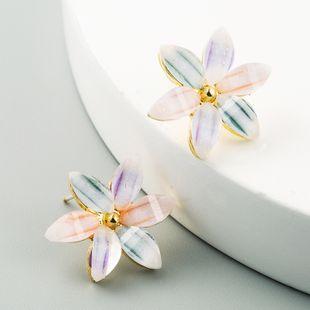 Korean explosive sweet ice flower alloy earrings S925 silver needle super fairy girl earrings wholesale nihaojewelry NHLN227718's discount tags