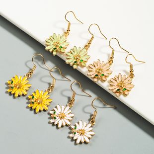 Korean sweet bee small daisy alloy girl earrings wholesale nihaojewelry NHLN227719's discount tags