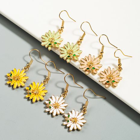 Abeille douce coréenne petites boucles d'oreilles fille en alliage de marguerite en gros nihaojewelry NHLN227719's discount tags