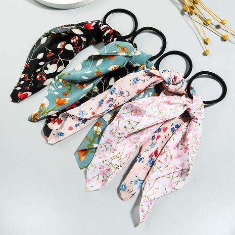 Korean hair scrunchies cute dot floral hair circle ladies fashion cloth ponytail hair rope wholesale nihaojewelry NHLN227723's discount tags