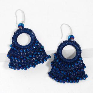 Hand-woven earrings new wave earrings bohemian fan-shaped earrings wholesale nihaojewelry NHAS227731's discount tags