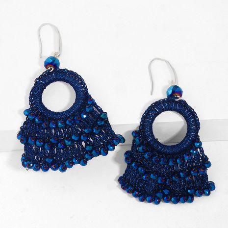 Boucles d'oreilles tissées à la main Boucles d'oreilles nouvelle vague Boucles d'oreilles en forme d'éventail bohème en gros nihaojewelry NHAS227731's discount tags