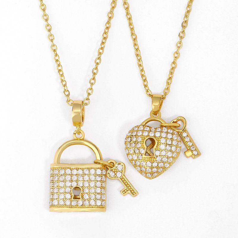 Fashion Necklace women Diamond Love Clavicle Chain wholesale nihaojewelry NHAS227733