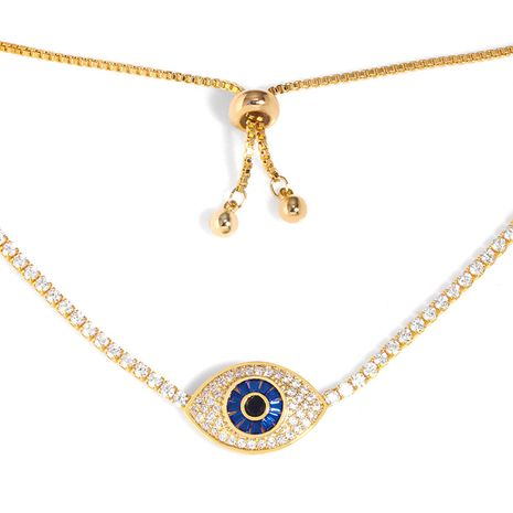 necklace explosion models jewelry necklace devil's eye blue eyes clavicle chain necklace wholesale nihaojewelry NHAS227735's discount tags