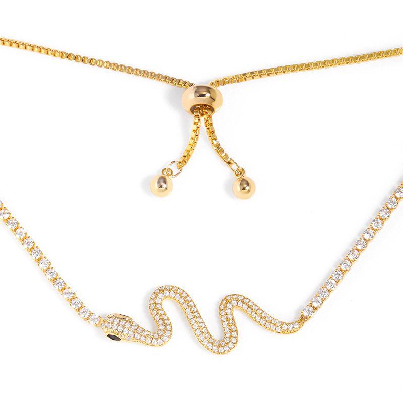 nouveau collier ras du cou mode diamant sauvage serpentine collier en gros nihaojewelry NHAS227738