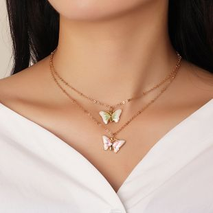 fashion jewelry fashion wild clavicle chain oil butterfly necklace wholesale nihaojewelry NHNZ227767's discount tags