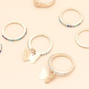 fashion rings set simple geometric set ring inlaid color diamond ring butterfly index finger ring wholesale nihaojewelry NHNZ227774