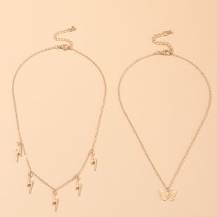 fashion jewelry lightning pendant exquisite wild butterfly necklace wholesale nihaojewelry NHNZ227778's discount tags