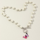 fashion jewelry simple metal chain  pearl butterfly necklace wholesale nihaojewelry NHNZ227779