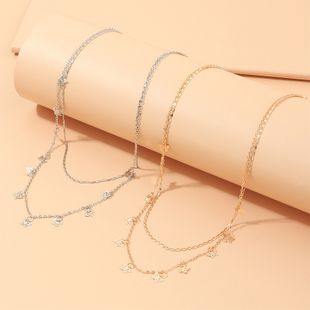 fashion jewelry simple box chain item trend butterfly pendant necklace wholesale nihaojewelry NHNZ227782's discount tags
