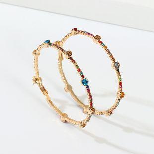 new jewelry geometric earrings design sense simple wild tassel diamond earrings wholesale nihaojewelry NHNZ227785's discount tags