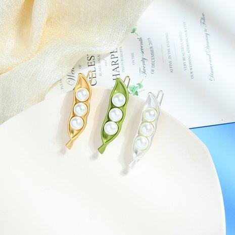 pearl hair clips fashion women's hair accessories headdress Mori pea word clip hairpin wholesale nihaojewelry NHQD227808's discount tags
