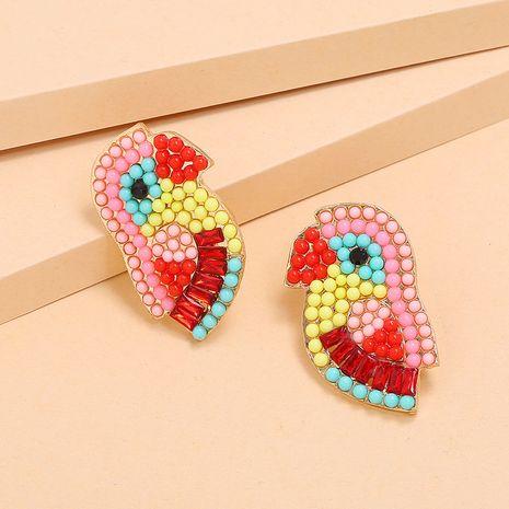 boucles d'oreilles oiseau mode rétro exagéré couleur boucles d'oreilles diamant gros nihaojewelry NHKQ227860's discount tags