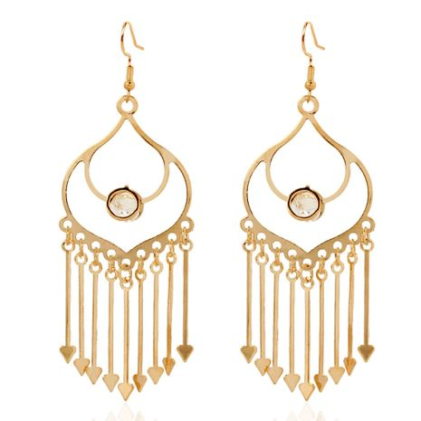 fashion women's metal tassel earrings fashion simple long earrings wholesale nihaojewelry NHCT227906's discount tags