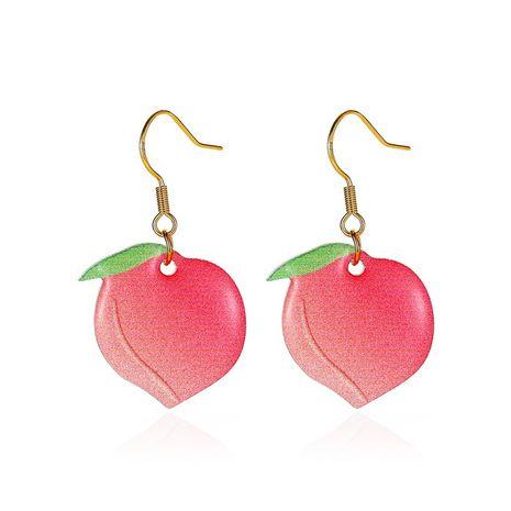 new earrings fruit series earrings sweet peach earrings acrylic peach earrings wholesale nihaojewelry NHMO227936's discount tags
