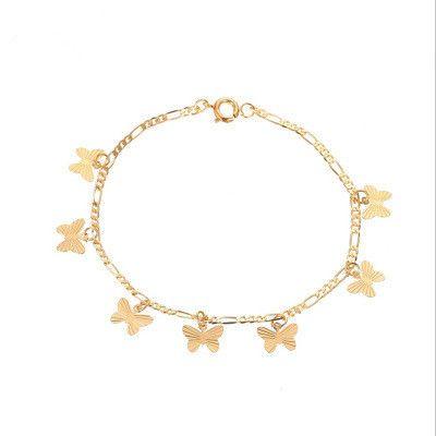 Nouveaux bijoux papillon bracelet simple simple couche papillon pendentif bracelet en gros nihaojewelry NHMO227937