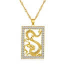 new necklace simple cross necklace hollow domineering flying dragon necklace imitation gold necklace wholesale nihaojewelry NHMO227951