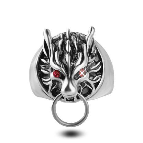 bague de mode anime final fantasy Crode hommes mode tête de loup logo anneau en gros nihaojewelry NHMO227978's discount tags