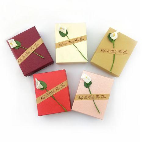 boîtes à bijoux à la main fleur boîte à bijoux flanelle de haute qualité boîte de rangement en gros nihaojewelry NHLJ227981's discount tags