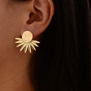 new gold-plated leaf earrings fashion flower women's earrings  NHOT228006's discount tags