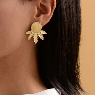 Fashion new gold-plated maple leaf earrings ladies street shot earrings women NHOT228005's discount tags