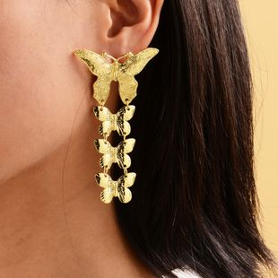 new gold-plated large butterfly earrings ladies fashion bohemian earrings wholesale nihaojewelry NHOT227997's discount tags
