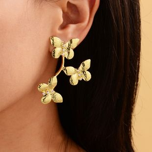 New irregular gold-plated butterfly earrings fashion earrings wholesale nihaojewelry NHOT227991's discount tags