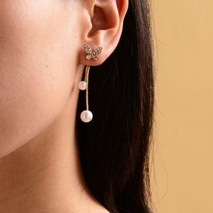Trendy Korean fashion sense super fairy butterfly earrings sweet earrings wholesale nihaojewelry NHOT227990's discount tags