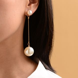 new long gold-plated pearl earrings ladies street fashion earrings women wholesale nihaojewelry NHOT227989's discount tags