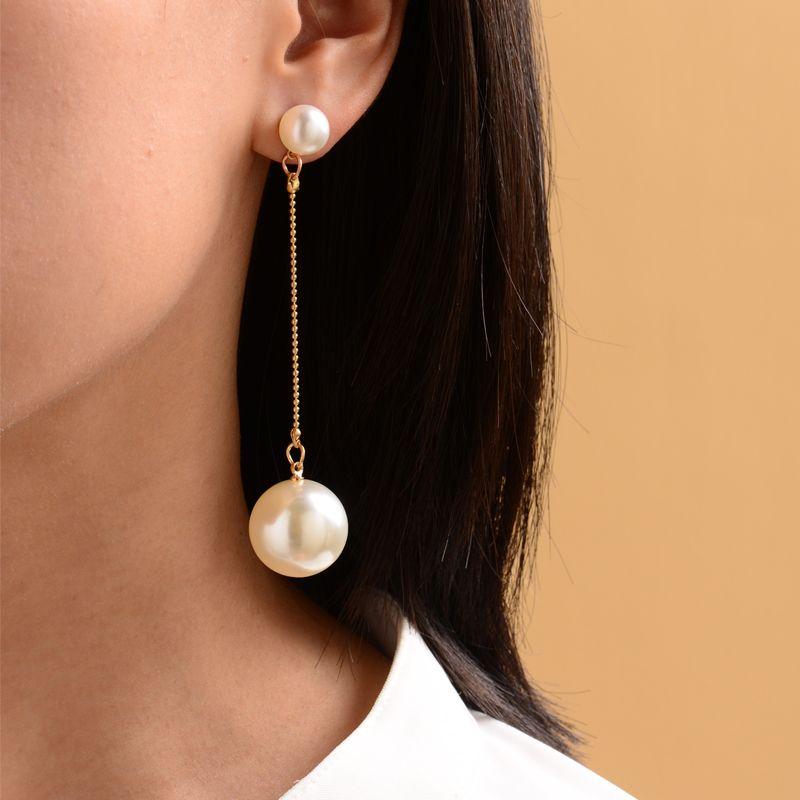 new long gold-plated pearl earrings ladies street fashion earrings women wholesale nihaojewelry NHOT227989