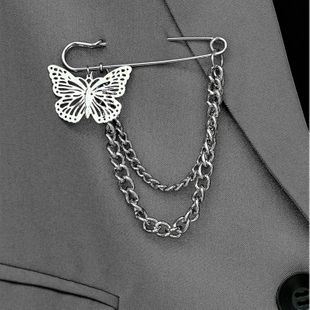 The new wild butterfly brooch fashion clothing badge wholesale nihaojewelry NHOT227984's discount tags