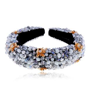 new color crystal flower headband national style fashion headband hair accessories wholesale nihaojewelry NHVA228041's discount tags