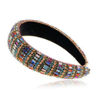 fashion retro alloy diamond headband original new handmade color hairband wholesale nihaojewelry NHVA228053's discount tags