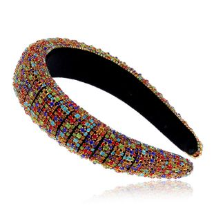 New fashion alloy full diamond headband hair accessories wholesale nihaojewelry NHVA228057's discount tags