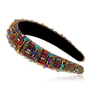 retro style fashion diamond color hair band Korean retro hair band headband wholesale nihaojewelry NHVA228059's discount tags
