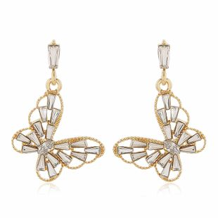 fashion exquisite earrings women golden butterfly diamond earrings wholesale nihaojewelry NHVA228087's discount tags