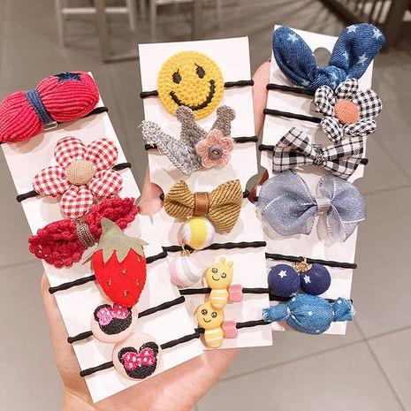 Coréen mignon cravate tête ne fait pas mal aux cheveux du bébé bande de caoutchouc tête corde enfants anneau de cheveux ensemble cheveux accessoires petite fille coiffure NHSA228102's discount tags