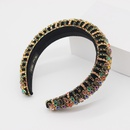 New style Baroque fashion sponge color rhinestone headband prom catwalk womens hair accessories wholesale nihaojewelry NHWJ228105