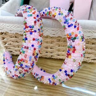 New style fashion gorgeous sponge color crystal hair accessories wholesale nihaojewelry NHWJ228108's discount tags