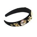 Baroque retro fashion headband metal flowers diamond gems ladies hair band wholesale nihaojewelry NHWJ228112