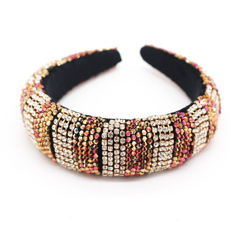 new sponge hairband crystal diamond woven hand-made headband accessories wholesale nihaojewelry NHWJ228113
