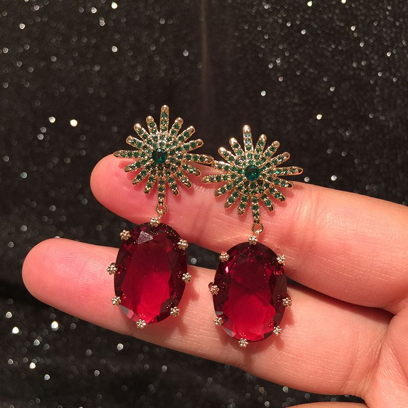 Octagon Star Crystal Earrings Simple Color Sweet S925 Silver Needle Candy Star Stud Earrings wholesale nihaojewelry NHWK228130