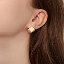 Nuevos pendientes pequeos de moda simples 925 aguja de plata tridimensional pendientes elegantes cuadrados al por mayor nihaojewelry NHPP228140