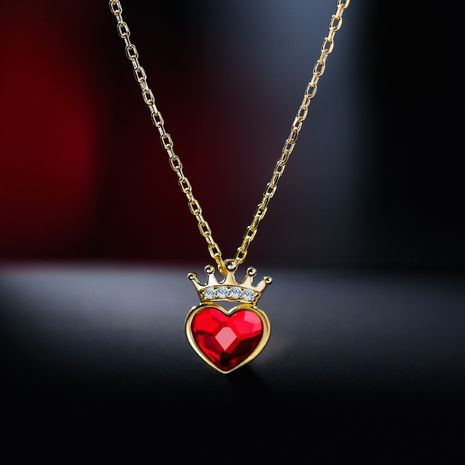 New Wave 925 Silver Love Crown Clavicle Chain Valentine's Day Fairy Sexy Necklace wholesale nihaojewelry NHPP228146's discount tags