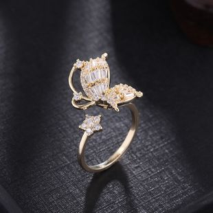 butterfly ring fashion simple Korean index finger elegant ring wholesale nihaojewelry NHDO228159's discount tags