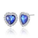 hot selling classic ocean heart crystal earrings wholesale nihaojewelry NHKN228197